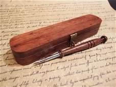 Turned Wood Calligraphy Pen w Box set