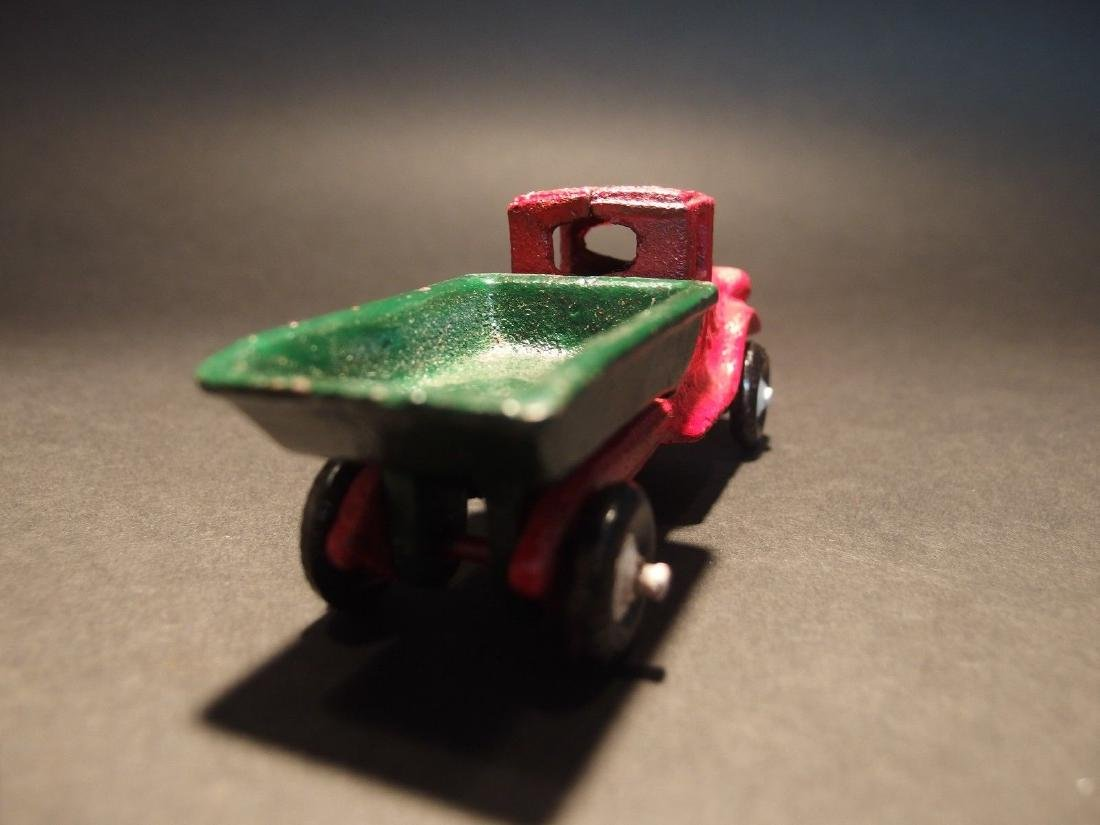 Cast Iron Red Dump Truck Toy Car - 10