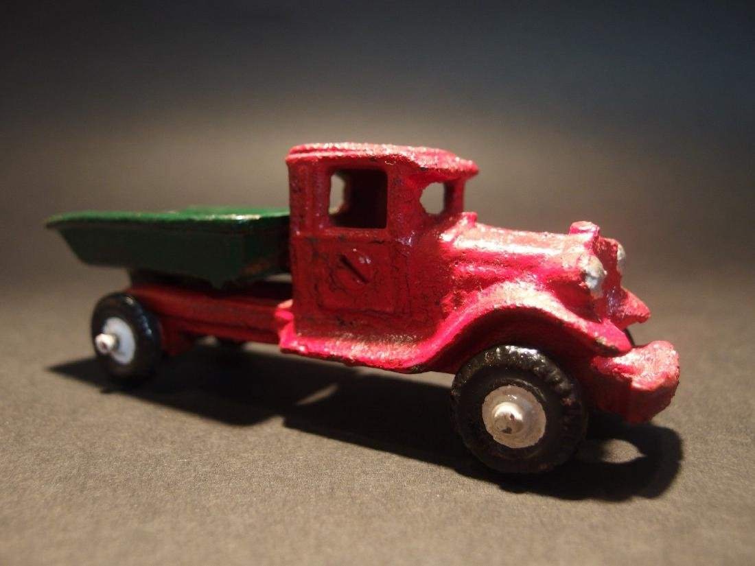 Cast Iron Red Dump Truck Toy Car