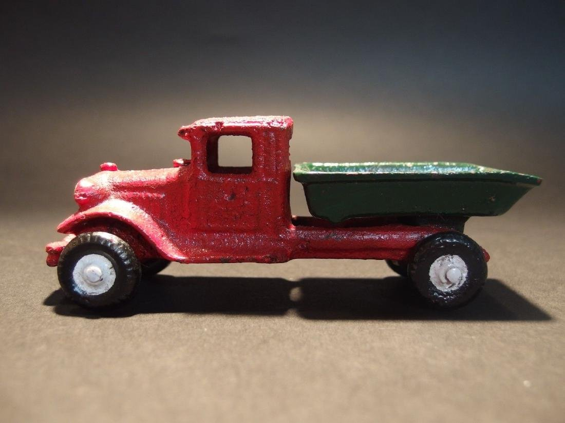 Cast Iron Red Dump Truck Toy Car - 4