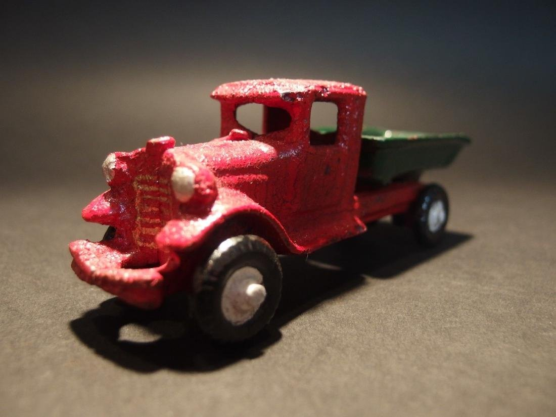 Cast Iron Red Dump Truck Toy Car - 9