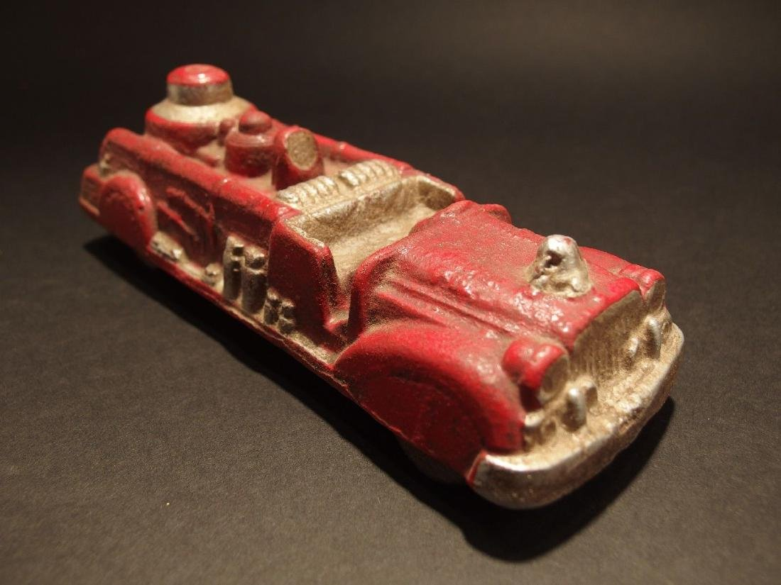 Cast Iron Fire Fighter Toy Truck Car