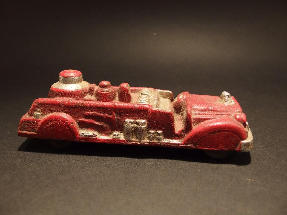 Cast Iron Fire Fighter Toy Truck Car - 2