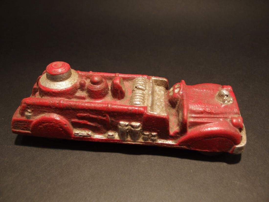 Cast Iron Fire Fighter Toy Truck Car - 3