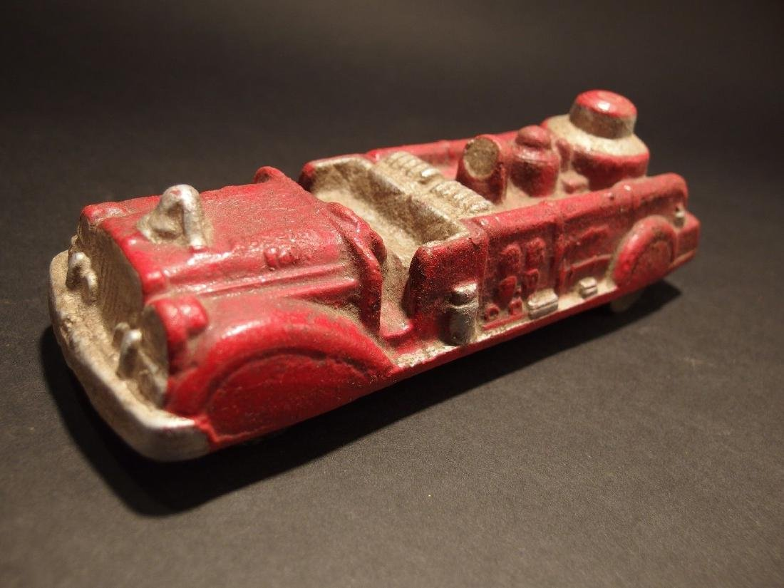 Cast Iron Fire Fighter Toy Truck Car - 4