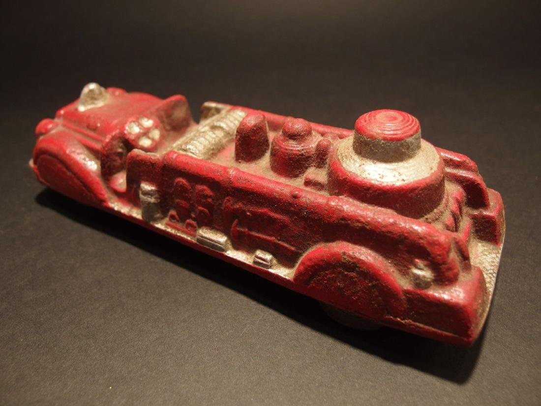 Cast Iron Fire Fighter Toy Truck Car - 5