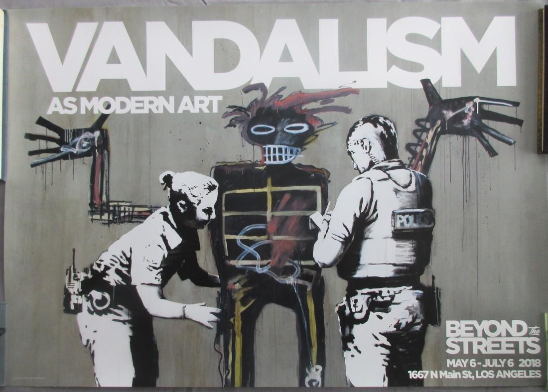 Original rare Banksy Vandalism poster