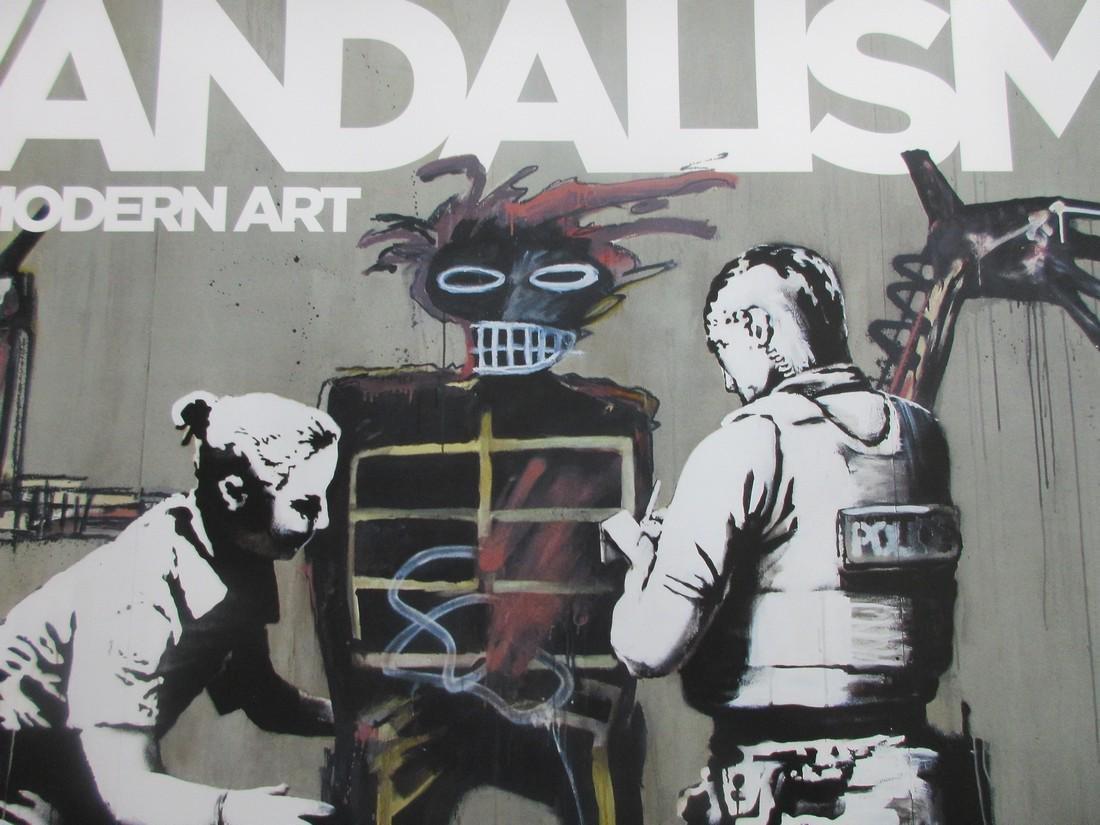 Original rare Banksy Vandalism poster - 3