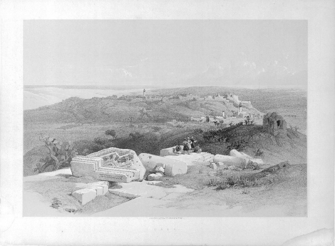 Roberts' Holy Land Views: Gaza, 1843