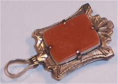 GREAT ANTIQUE 14K SOLID GOLD WATCH FOB PENDANT NECKLACE