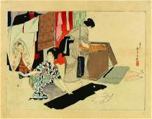 EISEN, Tomioka (1864-1905) Woodblock print A kuchi-e