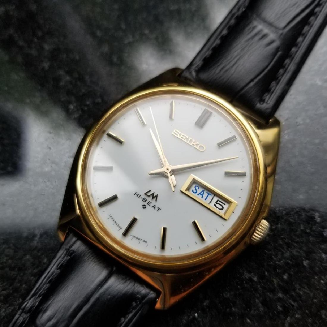 SEIKO Men's 18K Gold-Capped Lord Matic Hi Beat Day Date