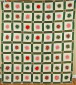1890's Antique Compass Rising 18 Point Star Quilt