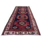 Wide Runner Persian Heriz Design Hand-Knotted Oriental