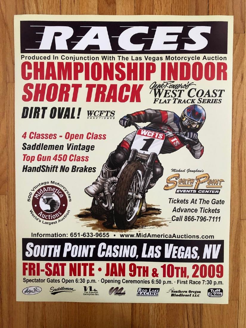 2009 LAS VEGAS ANTIQUE MOTORCYCLE AUCTION & RACE POSTER