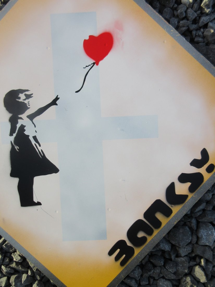 Banksy Girl With Balloon - 2