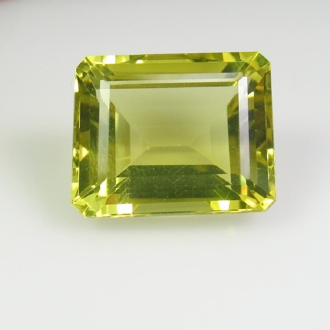 9.39 Ctw Natural Lemon Quartz 14X11.5 mm Octagon Cut