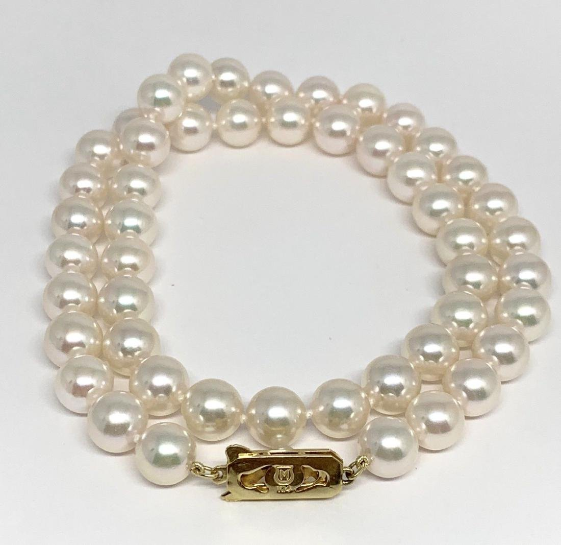 CERTIFIED BY MIKIMOTO $8,350 LARGE 8.5-8 MM 17.5 INCH - 4