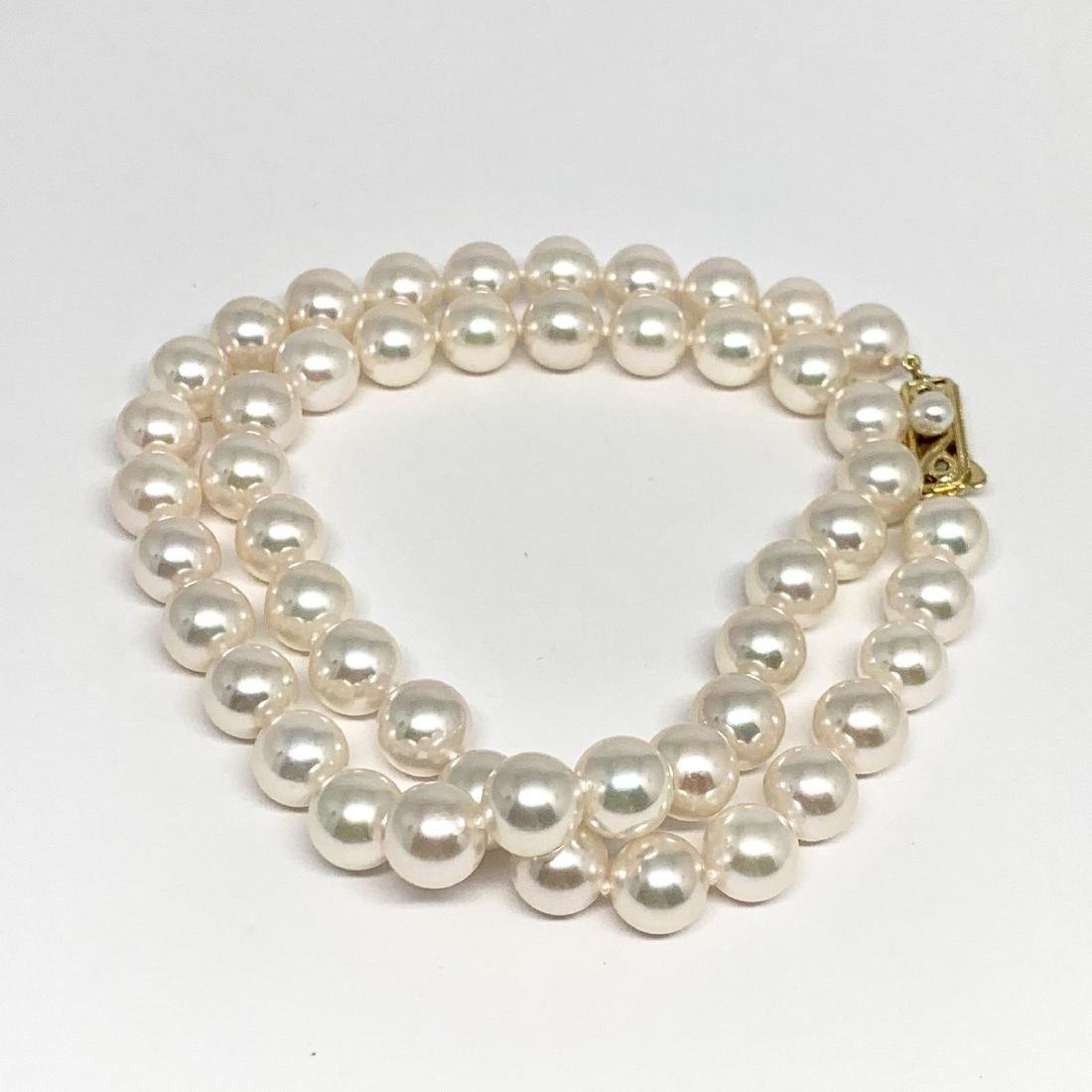 CERTIFIED BY MIKIMOTO $8,350 LARGE 8.5-8 MM 17.5 INCH - 5