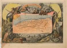1850 Levasseur Map of Algeria -- Algerie, Colonie