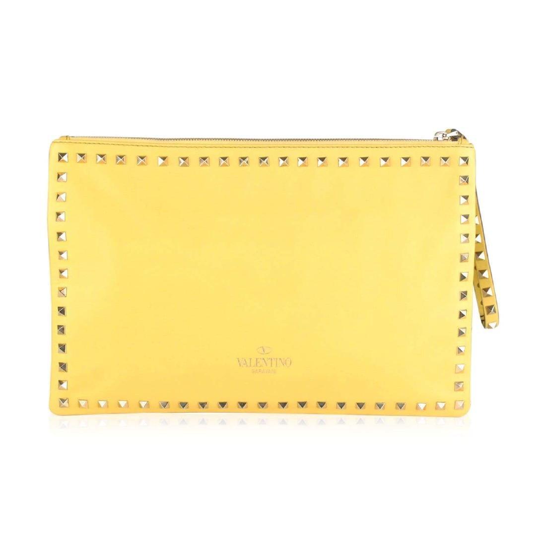 Valentino Rockstud Large Clutch Wrist Bag