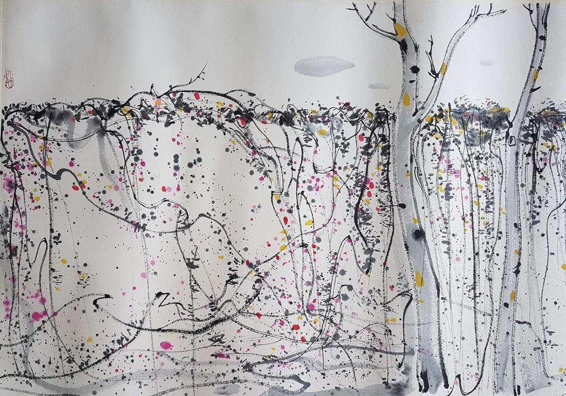 A CHINESE PAINTING ON PAPER AFTER WU GUANZHONG - 4