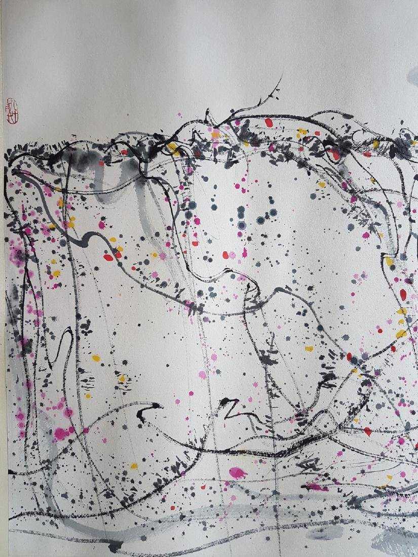 A CHINESE PAINTING ON PAPER AFTER WU GUANZHONG - 7