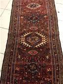 Semi Antique Persian Heriz Runner 10.7x3