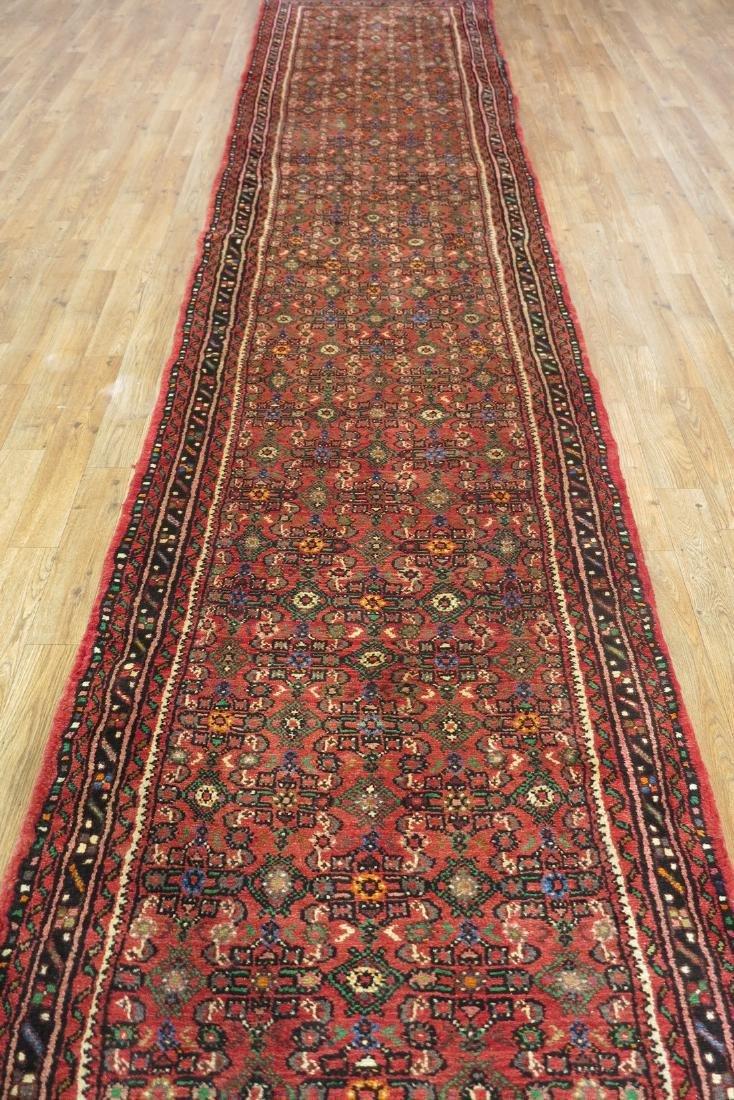 3 x 33 Semi-Antique Persian Hamadan Runner Rug