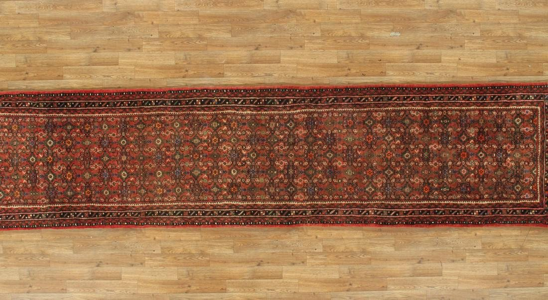 3 x 33 Semi-Antique Persian Hamadan Runner Rug - 3