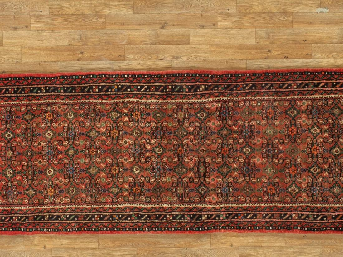3 x 33 Semi-Antique Persian Hamadan Runner Rug - 4