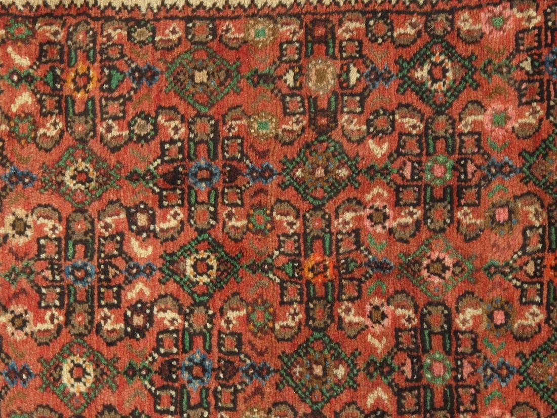 3 x 33 Semi-Antique Persian Hamadan Runner Rug - 5