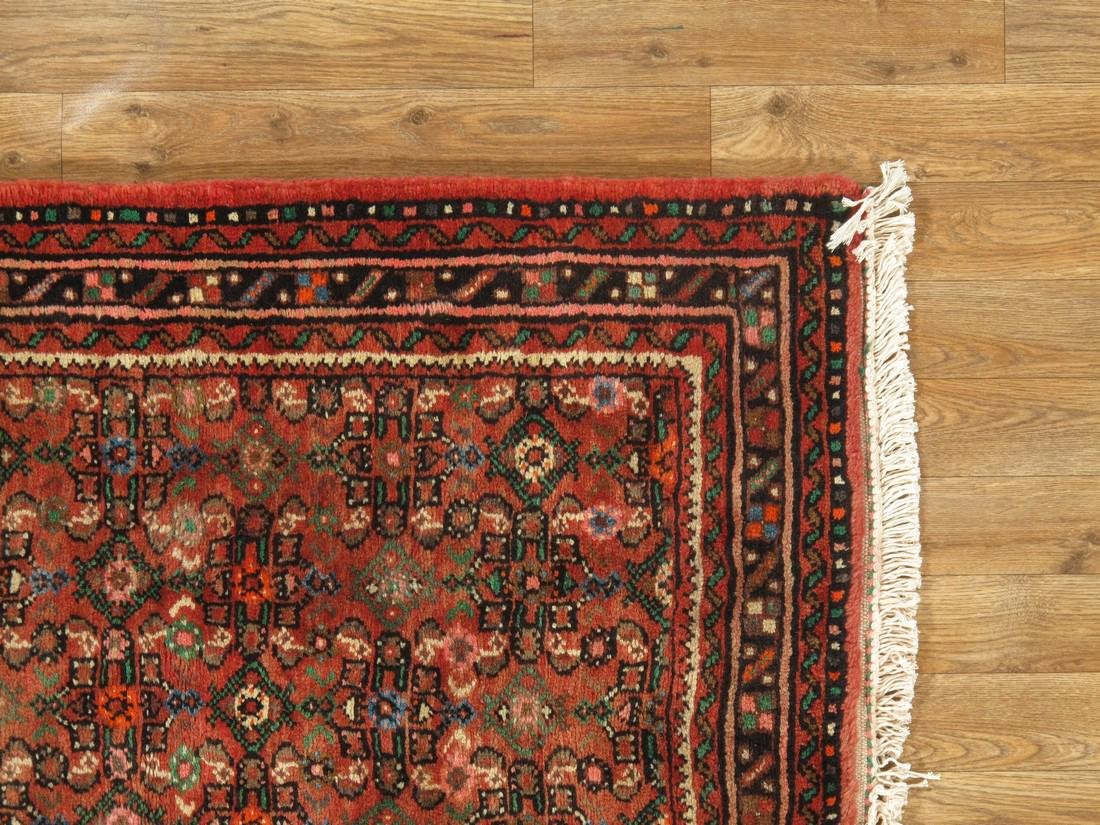 3 x 33 Semi-Antique Persian Hamadan Runner Rug - 6