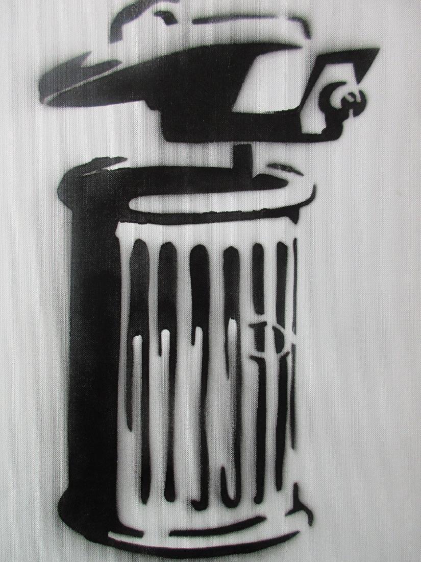 Banksy Dismaland C.C.T.V.  spray paint on canvas