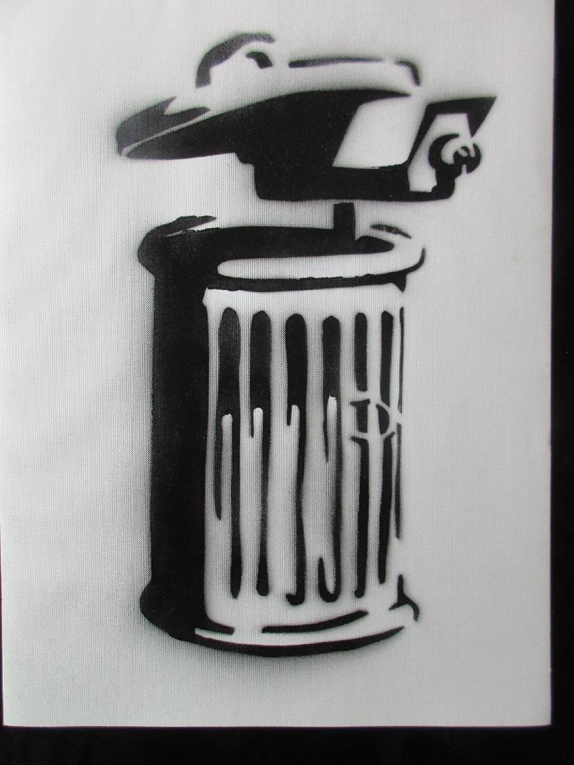 Banksy Dismaland C.C.T.V.  spray paint on canvas - 2