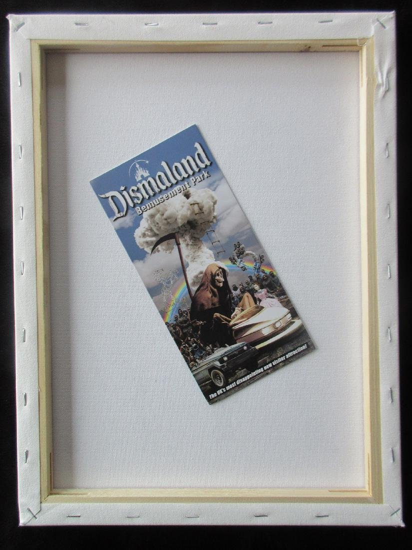 Banksy Dismaland Stop & Search spray paint on canvas. - 3