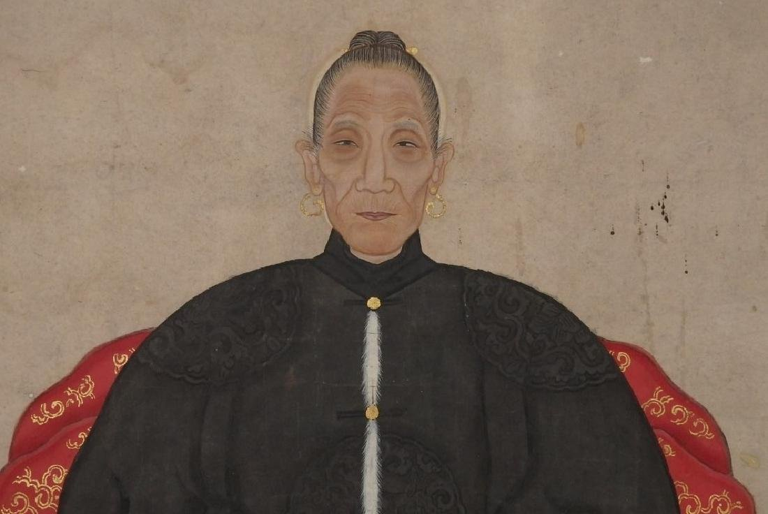 """A pair of ancestor couple portraits, with """"Certificate - 8"""