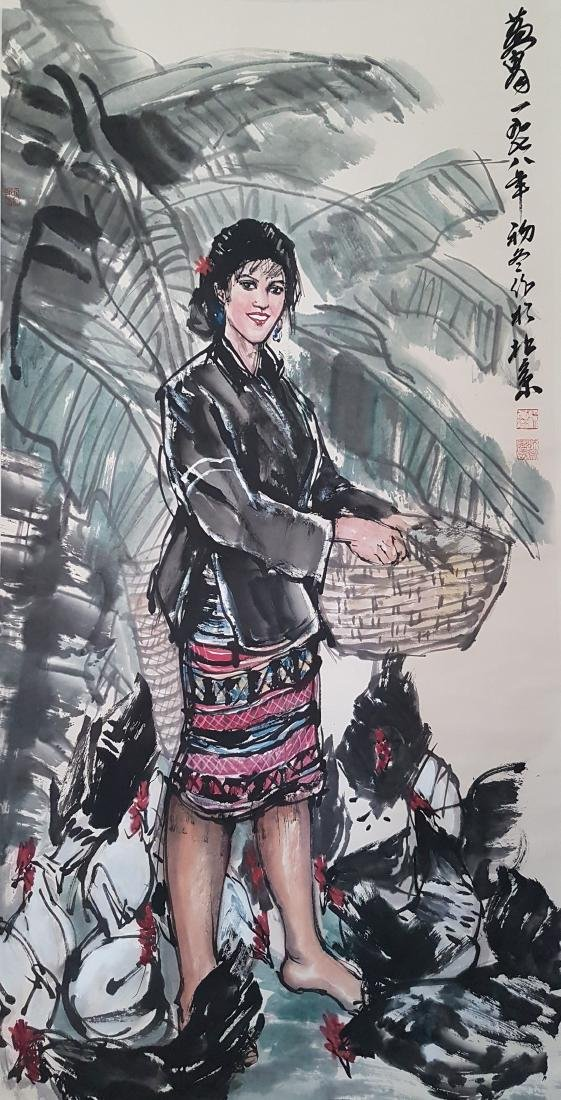 Chinese Scroll Painting on paper HUANG ZHOU(after)