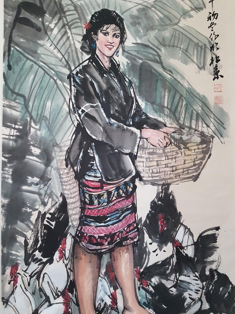 Chinese Scroll Painting on paper HUANG ZHOU(after) - 6