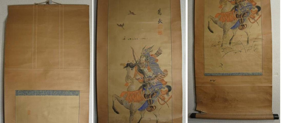 A very beautiful hand made original old Japanese scroll - 2