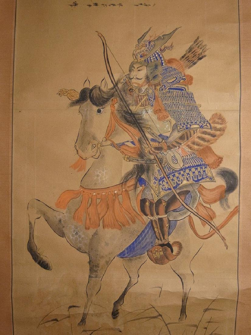A very beautiful hand made original old Japanese scroll - 4