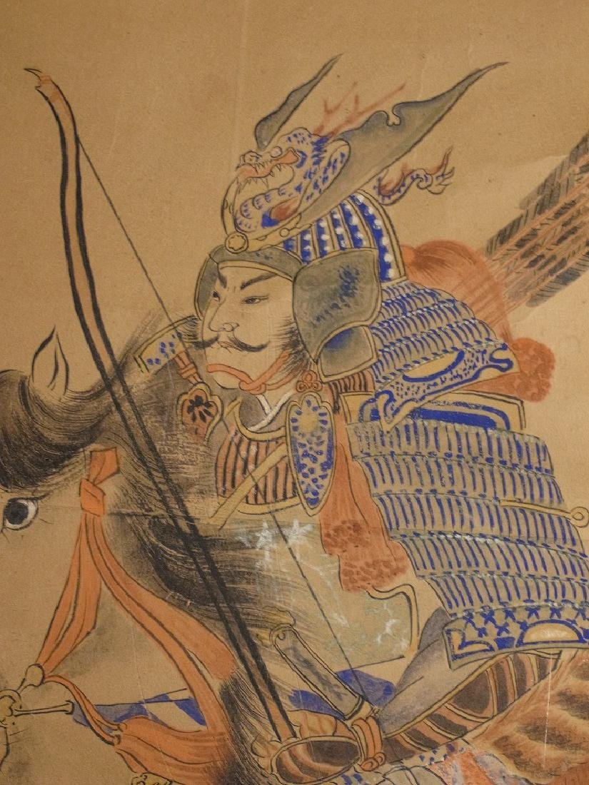 A very beautiful hand made original old Japanese scroll - 5