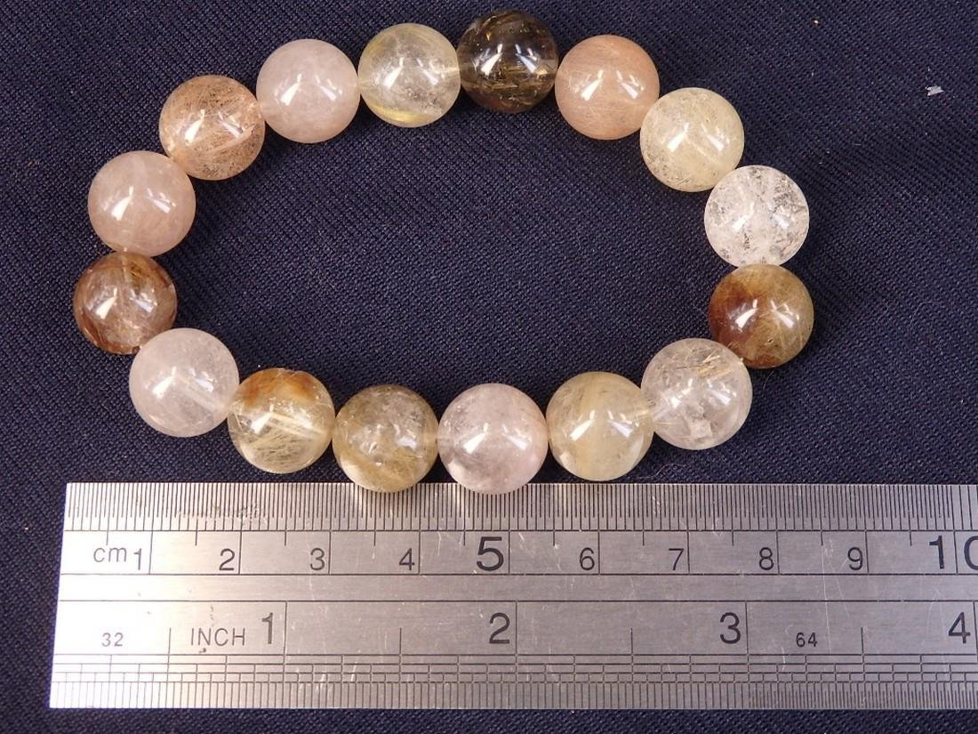 Vintage mixed crystal beads bracelet - 2