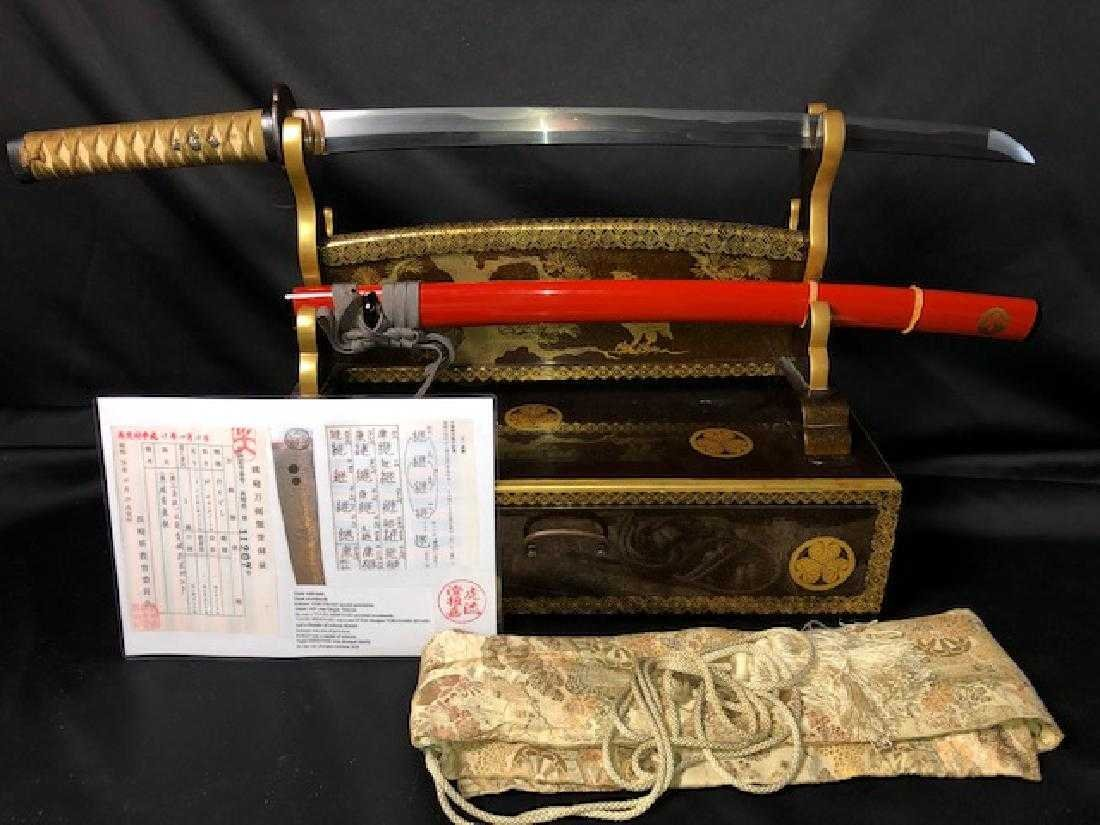 Great wakizashi made by a great swordsmith from the