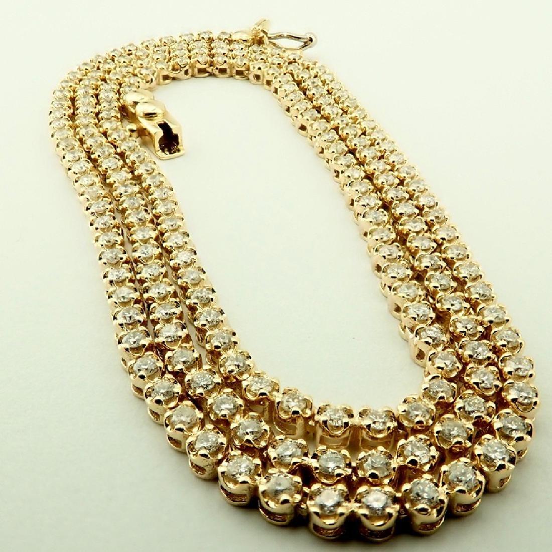 14K 2,02 ct Diamond Tennis Necklace