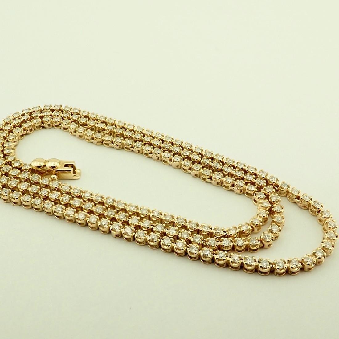 14K 2,02 ct Diamond Tennis Necklace - 2