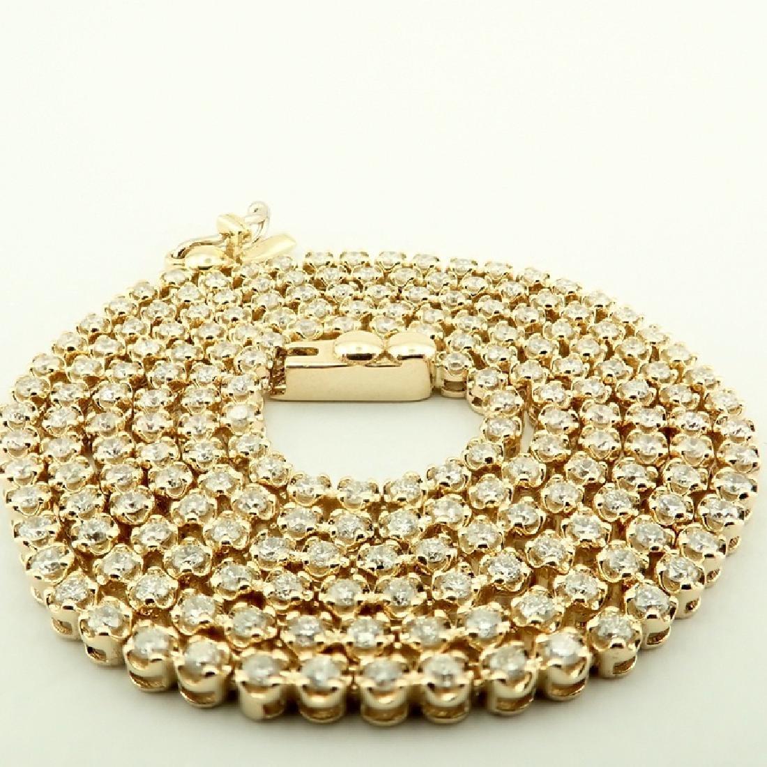 14K 2,02 ct Diamond Tennis Necklace - 3