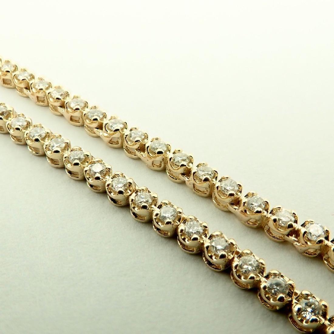 14K 2,02 ct Diamond Tennis Necklace - 4