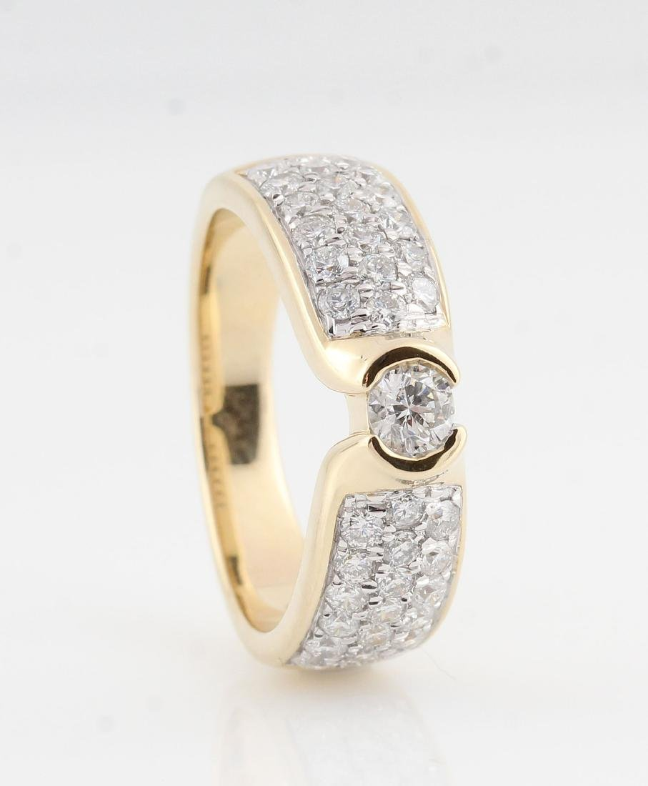 14kt yellow gold diamond ring 0.98ct
