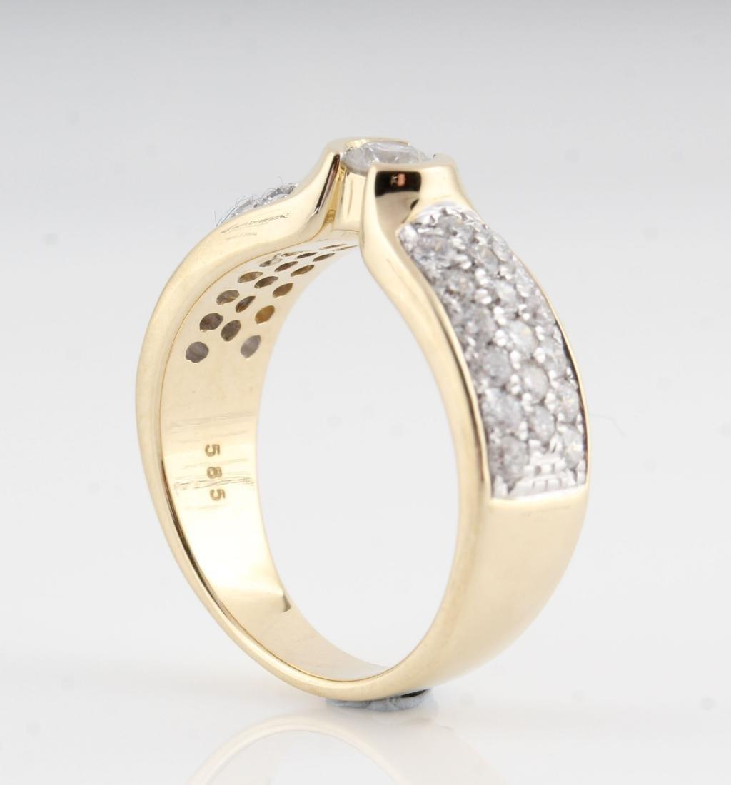 14kt yellow gold diamond ring 0.98ct - 2